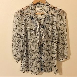 Mystic Bird Printed Blouse